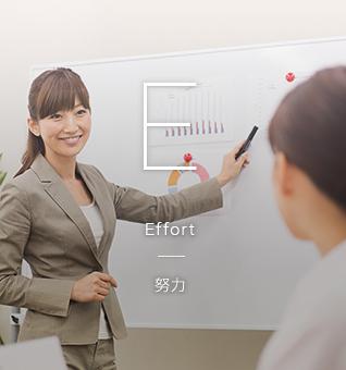 QUEST(品質、実用性、努力、誠実性、感謝)を行動方針としています。